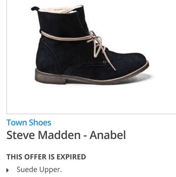 Steve Madden Anabel Black suede ankle booties